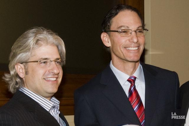 Jim Popp et Marc Trestman avec les Alouettes... (Photo Rémi Lemée, archives La Presse)