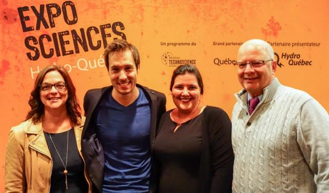 Nathalie Beaudry, Luc Langevin, Caroline Hébert et Jacques... (Photo fournie par le Réseau Technoscience)
