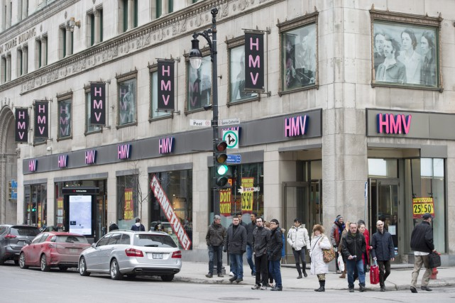 La succursale HMV de la rue Sainte-Catherine à... (PHOTO LA PRESSE CANADIENNE)
