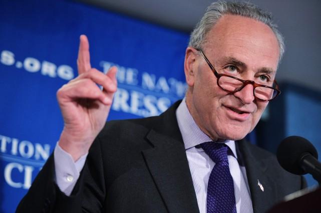 Le chef des sénateurs démocrates au Congrès américain... (AFP, Mandel Ngan)