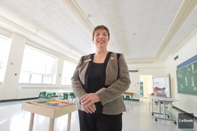 La directrice de l'école Centre-Nord, Francine Hotte... (Martin Roy, Le Droit)