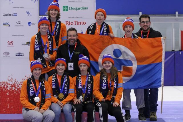 La délégation de patinage de vitesse de la... (Olivier Boilard)