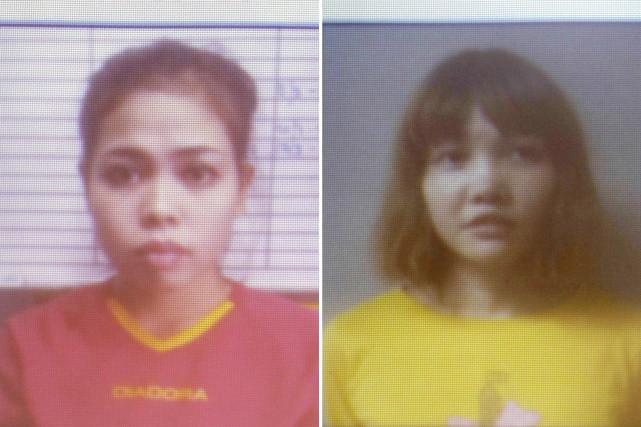 Siti Aisyah et Doan Thi Huong... (Photo Associated Press/Royal Malaysia Police)