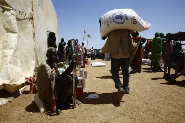 L'ONU considère que cette famine n'est pas d'origine... (Photo Ashraf Shazly, Agence France-Presse)