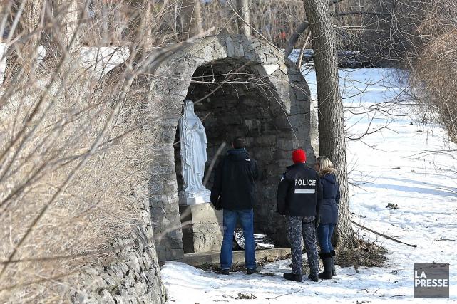 La dépouille se trouvait dans une niche votivede... (Patrick Sanfaçon, La Presse)