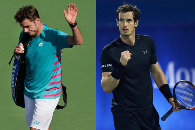 Stanislas Wawrinka et Andy Murray n'ont pas connu... (Photos AP)