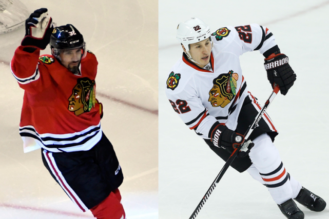 Les Blackhawks de Chicago ont accordé des prolongations de contrat d'un an au... (Photos AP)
