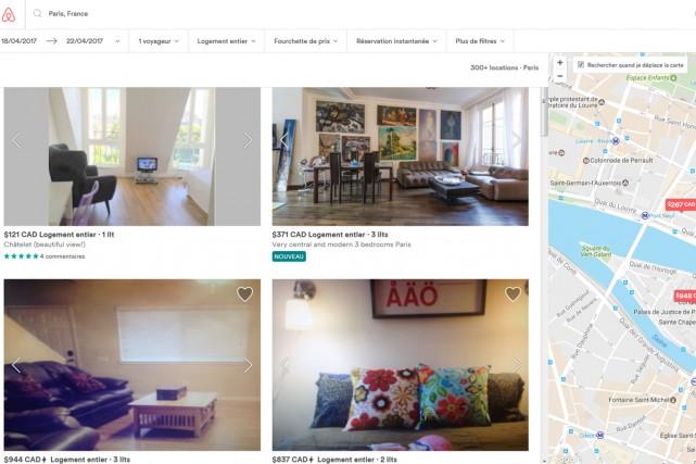 Airbnb, accusé de concurrence déloyale par les hôteliers, a proposé de limiter... (CAPTURE D'ÉCRAN)