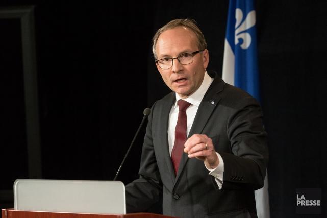 Le ministre de la Sécurité publique, Martin Coiteux.... (Photo Simon Giroux, archives La Presse)