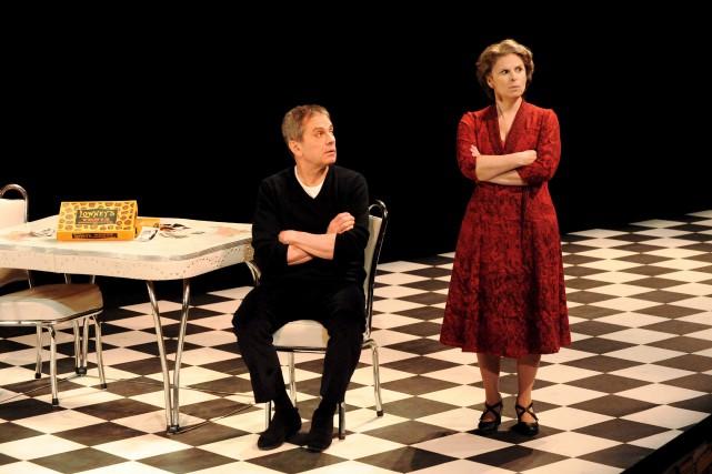 En vedettes dans la pièce Encore une fois,... (fournie par le Théâtre Jean Duceppe, Caroline Laberge)