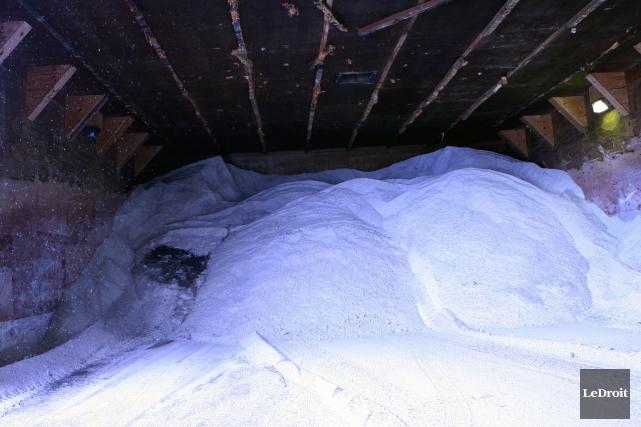 Les 679tonnes de sel actuellement en route pour... (Simon-Séguin Bertrand, Archives Le Droit)