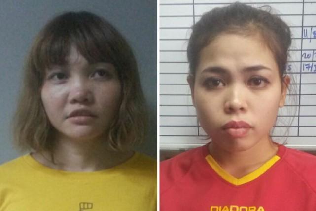 Doan Thi Huong et Siti Ashyahont chacune été... (PHOTO AFP/POLICE MALAISIENNE)