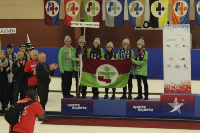 Richelieu-Yamaska est parvenu à décrocher l'argent en curling... (tirée de Facebook)