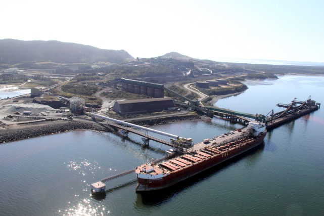 Alderon se réjouit de l'arrivée de Québec aux... (fournie par le Port de Sept-Îles)