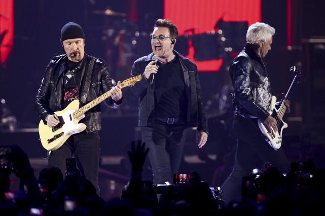 U2 en 2016 à Las Vegas... (Archives, Associated Press)