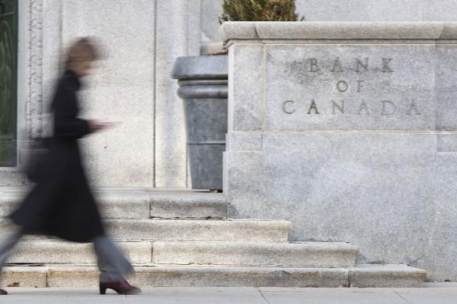L'édifice de la Banque du Canada, à Ottawa... (AFP, Geoff Robins)