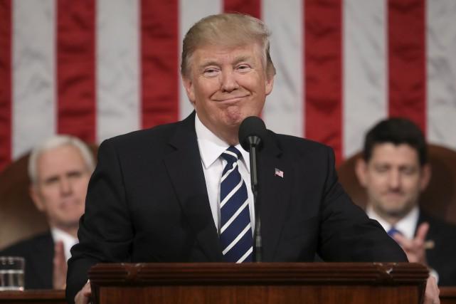 ÉDITORIAL / Jusqu'à son discours devant le Congrès, mardi, Donald Trump n'avait... (Associated Press)