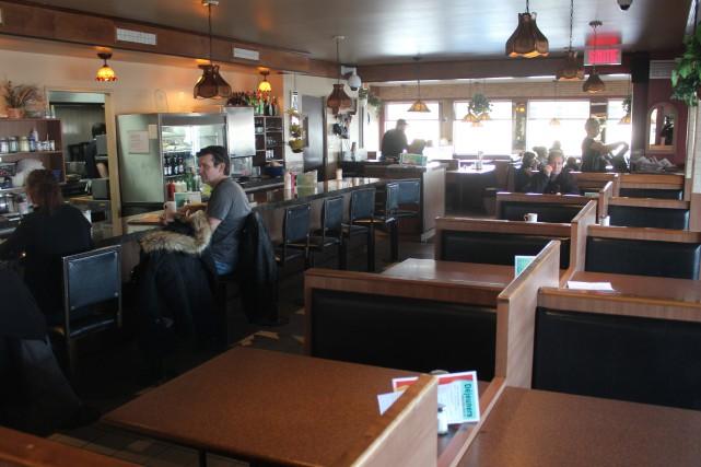 Le restaurant Goofy profite d'un rare moment d'accalmie... (Photo La Pige)