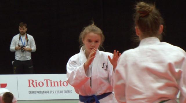 Noémie Filion lors de son premier combat.... (Photo La Pige)