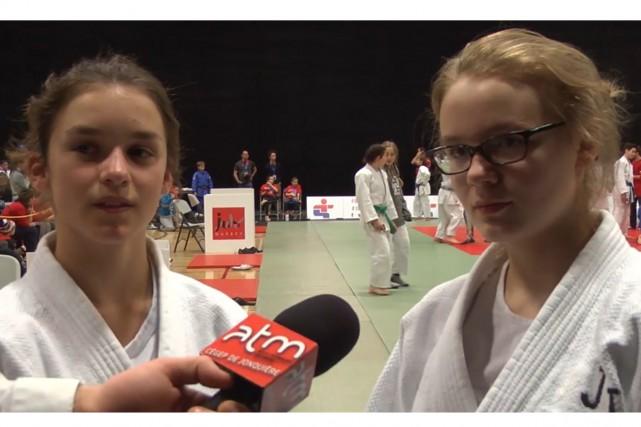 Les judokas Mathilde Simard-Lejeune et Noémie Filion.... (Photo La Pige)
