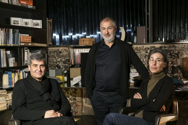 Rafael Aranda, Ramon Vialta et Carme Pigem, du... (AFP, Eddy Kelele)