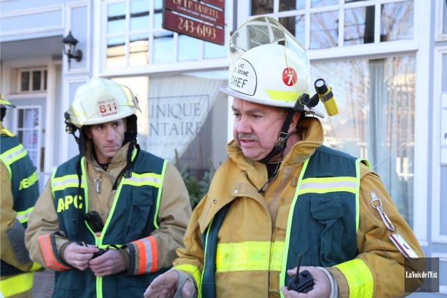 Le directeur du Service des incendies de Lac-Brome,... (archives La Voix de l'Est)