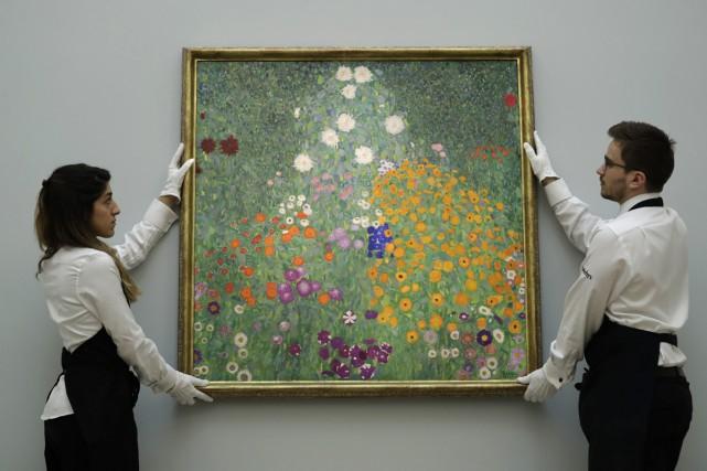 Bauerngarten de Gustav Klimt... (PHOTO AP)