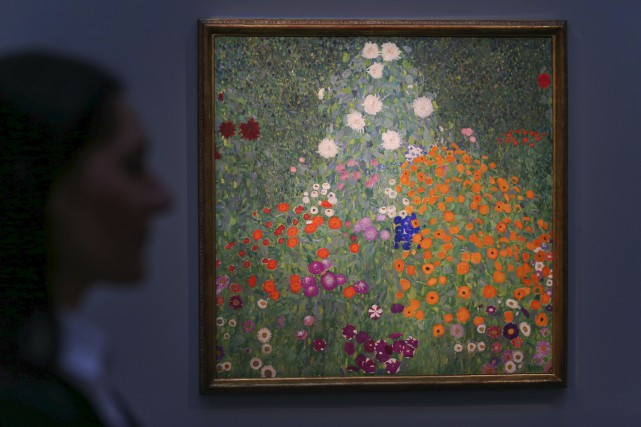 Bauerngarten(le jardin de fleurs) peint par l'artiste autrichien... (AFP, Daniel LEAL-OLIVAS)