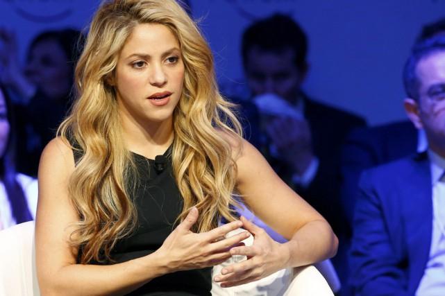 Shakira lors de sa participation au Forum économique... (PHOTO ARCHIVES REUTERS)
