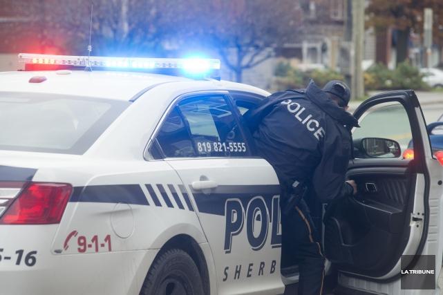 Le Service de police de Sherbrooke a mis... (Archives, La Tribune)