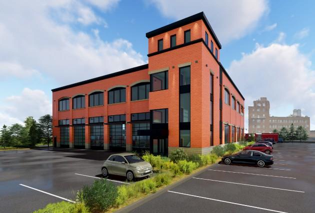 La future caserne sera recouverte de briques rouges... (Image fournie par la Ville de Magog)