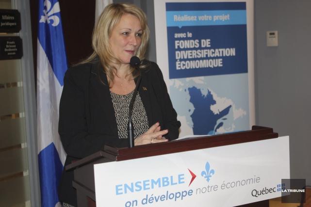 La vice-première ministre et ministre du Développement économique... (La Tribune, Yanick Poisson)