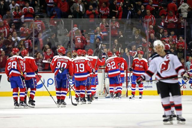 La séquence victorieuse des Capitals au Verizon Center... (Photo Geoff Burke, USA TODAY Sports)