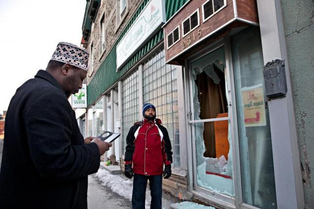 Le 21 février, la mosquée Tawuba, située rue... (Photo Patrick Sanfaçon, La Presse)