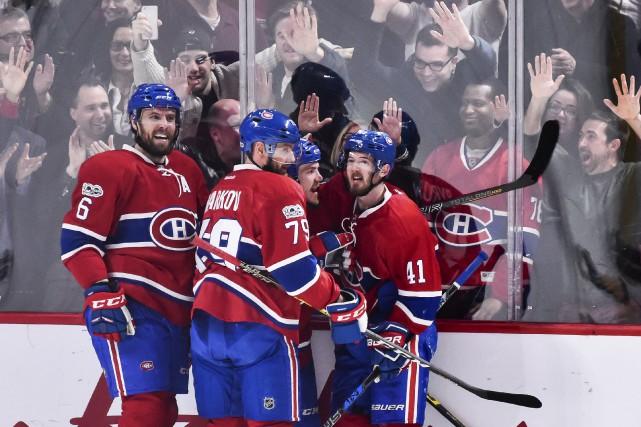 Paul Byron (41) donné la victoire au Canadien... (AFP, Minas Panagiotakis)