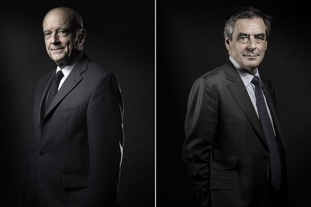 Alain Juppé (à gauche) serait prêt à remplacer... (PHOTO JOEL SAGET, ARCHIVES AGENCE FRANCE-PRESSE)