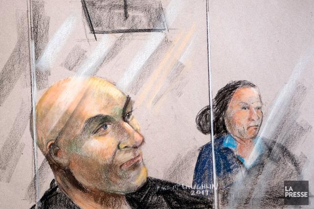 Dessin du début du procès de l'ex-entraineur de... (PHOTO MARCO CAMPANOZZI, ARCHIVES LA PRESSE)