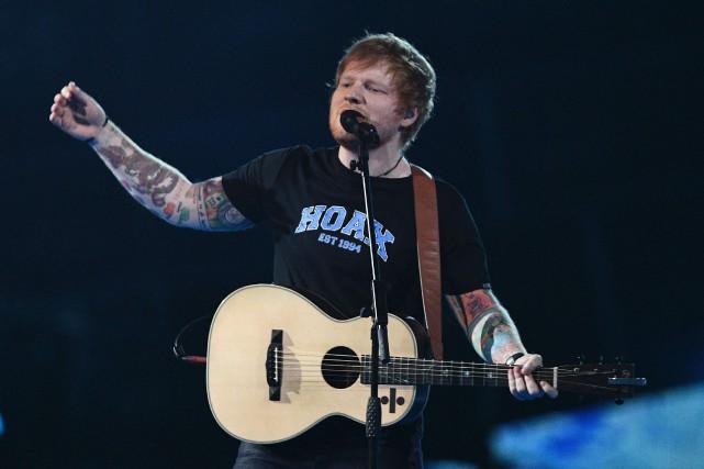 Ed Sheeran a particulièrement intéressé sur le sol... (Archives AFP)