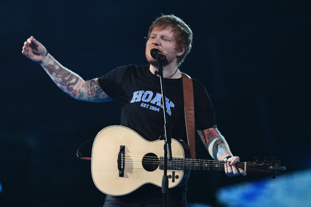 Ed Sheeran... (Archives AFP)