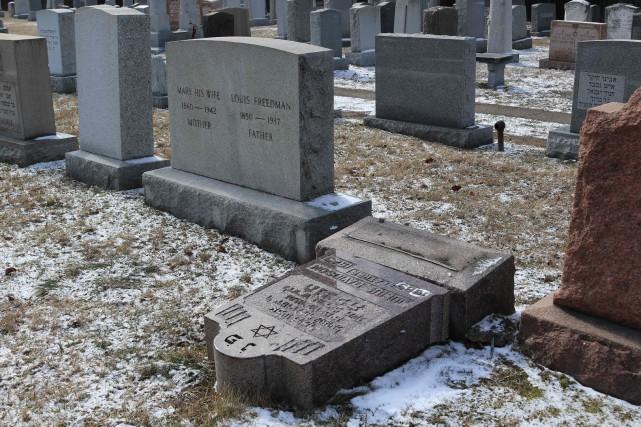 Le cimetière juif de Rochester, dans l'État de... (Photo  Gretchen STUMME, AFP)
