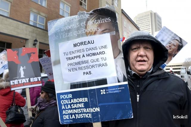 En pleine grève de ses avocats et notaires,... (Photothèque Le Soleil, Jean-Marie Villeneuve)