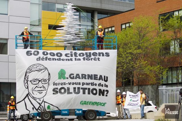 Produits forestiers Résolu va continuer de poursuivre Greenpeace, même si... (Archives La Presse)
