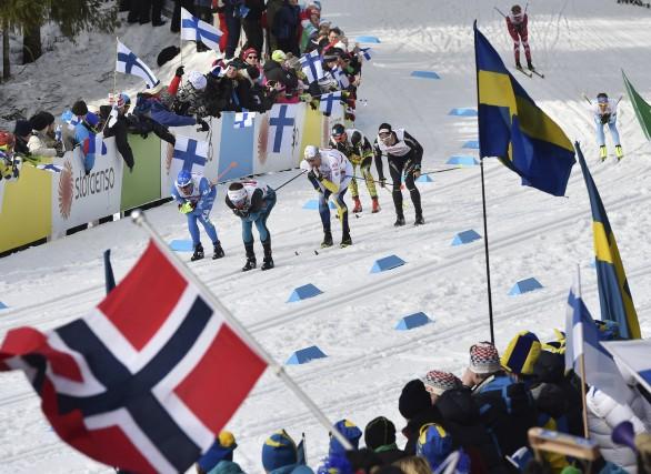 Les Norvégiens ont remporté le relais 4X 10km... (AFP, Christof Stache)