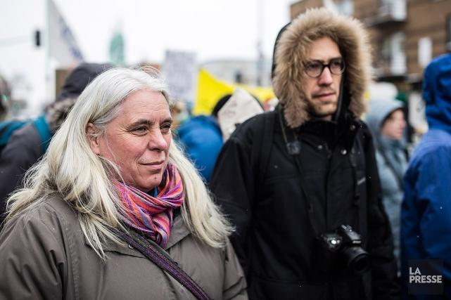 La porte-parole par intérim de Québec solidaire et... (PHOTO EDOUARD PLANTE-FRÉCHETTE, ARCHIVES LA PRESSE)
