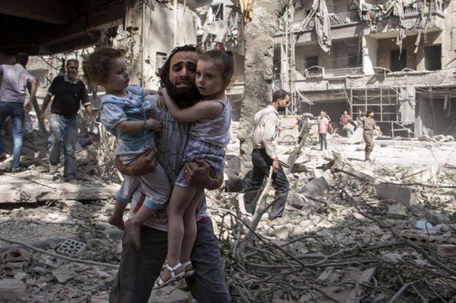 Les civils font les frais de la guerre... (Archives AFP)