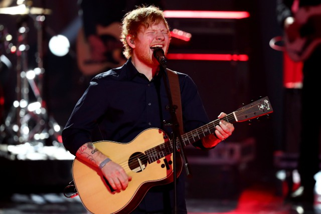 Ed Sheeran a fait son grand retour sur la... (PHOTO Christian Charisius, Archives AFP)