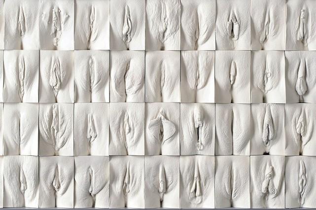 Cette oeuvre de Jamie McCartney représente la vulve,... (Courtoisie)