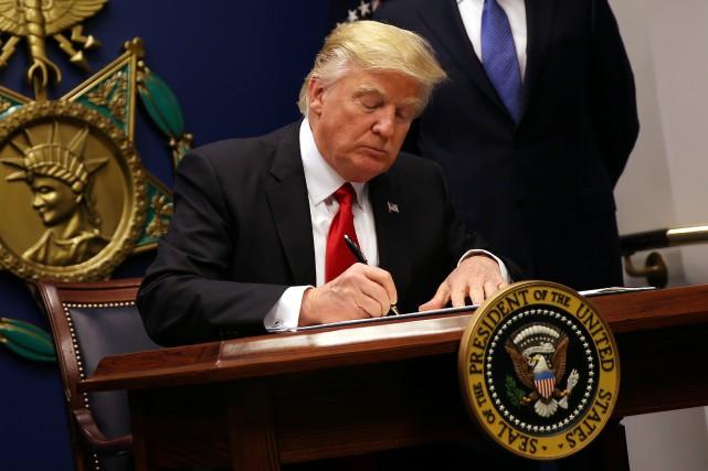 Le président américaina essuyé deux revers judiciaires sur... (PHOTO Carlos Barria, ARCHIVES REUTERS)