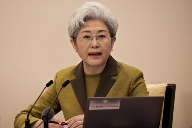 Fu Ying, porte-parole de l'Assemblée nationale populaire, a... (AFP, Nicolas Asfouri)