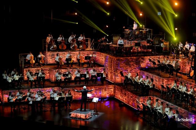 LeConcert amplifié offert parles musiciens de l'Orchestre symphonique... (Le Soleil, Erick Labbé)